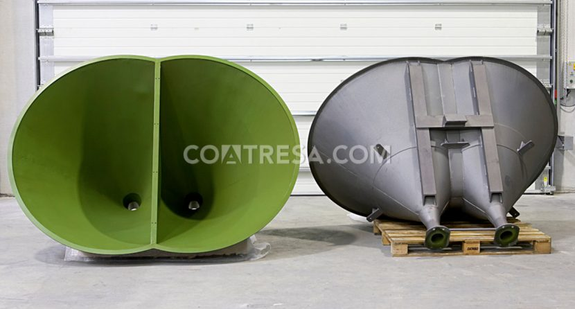 PTFE tefló per tremuges de maquinària industrial