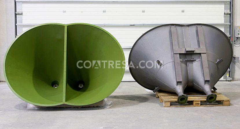 PTFE teflón para tolvas de maquinaria industrial