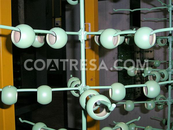 Les propietats del politetrafluoroetilè són òptimes per a vàlvules de boles