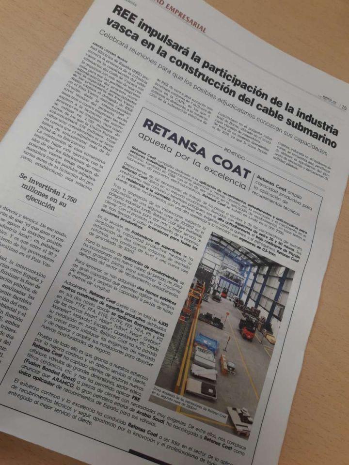 Retansa Coat en los diarios