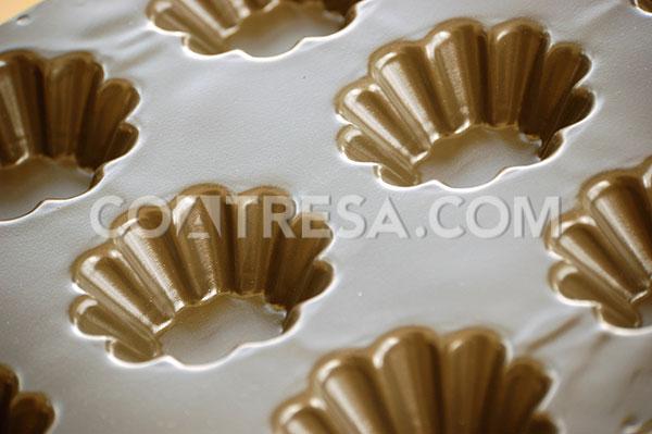Lámina de teflón, molde de madalena para sector de alimentación
