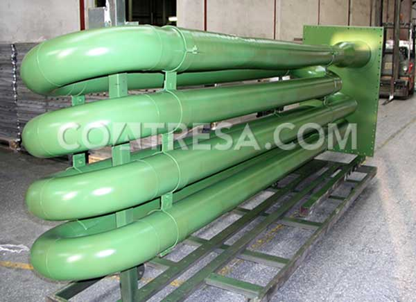 liquid teflon for high temperatures. Exchanger in the chemical industry