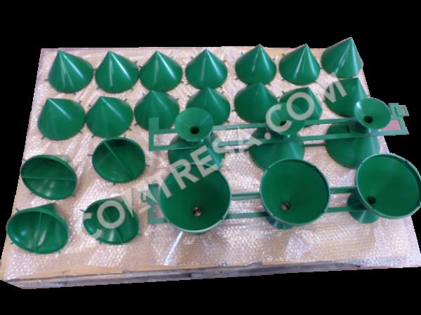 Teflonado moldes color verde