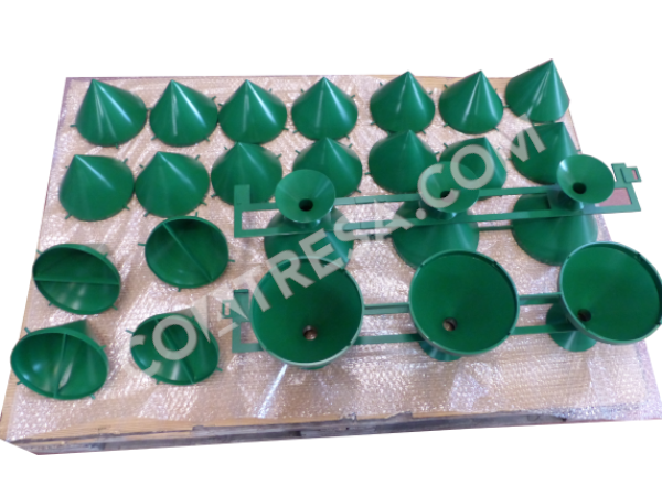 Teflon-coated green moulds