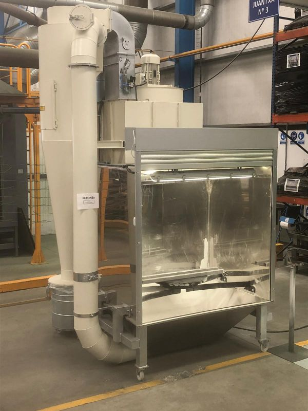máquina de recuperación de polvo