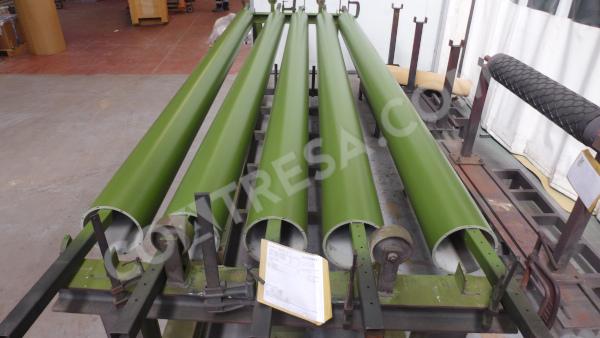 Teflonado verde de rodillos